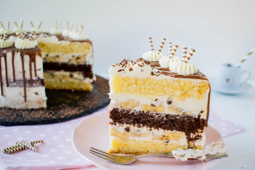 Bananen Zebra Drip Cake Mein Naschgluck