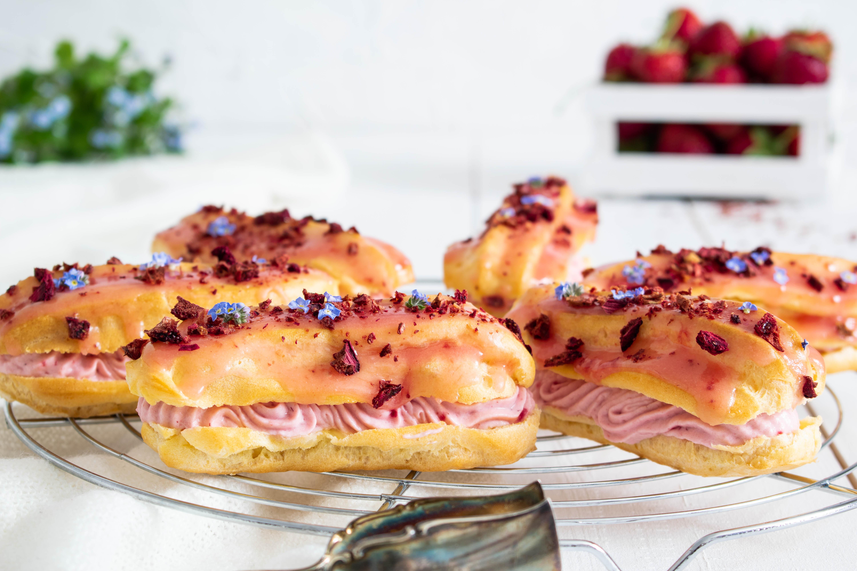 Rezept Eclairs mit Erdbeerfüllung