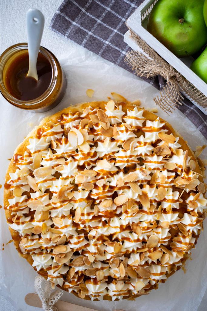 Apfelkuchen mit Karamell