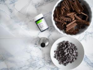 Baiser Drops mit Schokolade