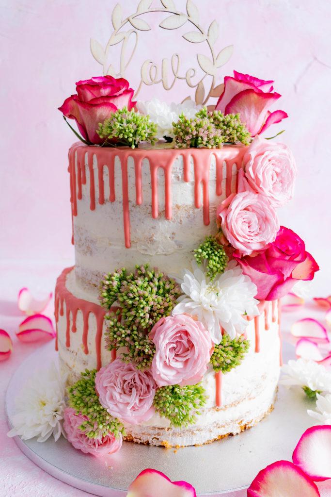 Naked Cake Hochzeitstorte Mit Zwei Fullungen Rezept Mein Naschgluck