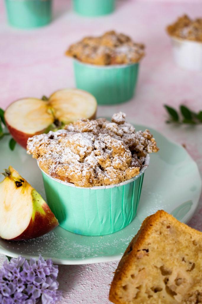 Apfel Muffins mit Streusel