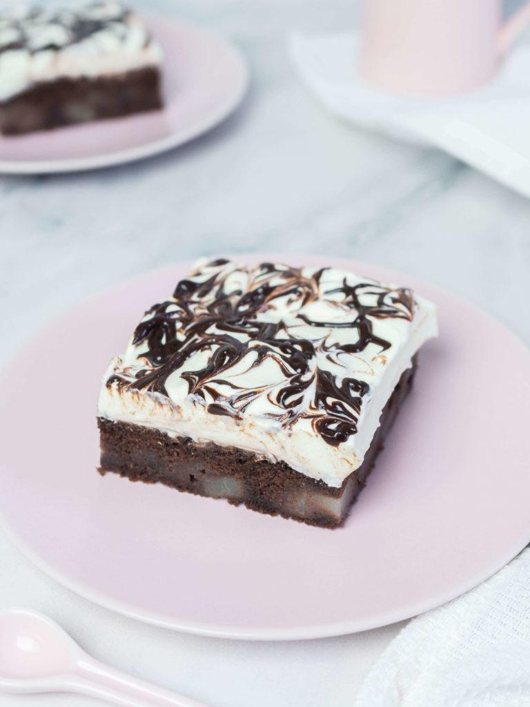 Schoko-Birnen-Kuchen vom Blech